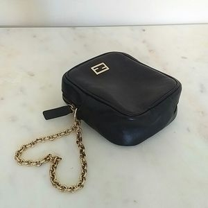 FENDI - leather wristlet bag